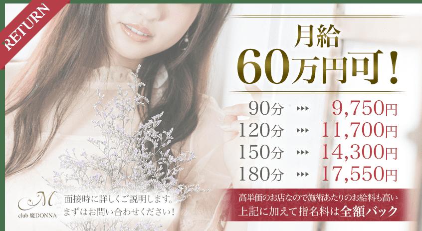 65%バックで月給60万円可!